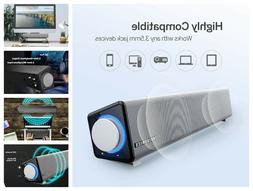 stereo usb powered mini soundbar speaker