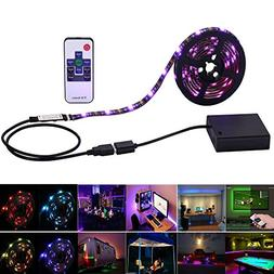 Inwaysin Led Strip Lights USB Battery Powered RGB Strip Ligh