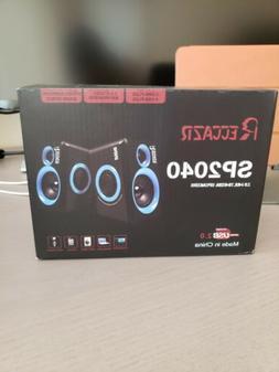 Reccazr Surround Sound Multimedia Speakers  USB Powered PC/L