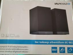 SANYUN SW-36 MULTIMEADIA SPEAKER SET USB POWERED SYSTEM FOR