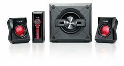 Genius SW-G2.1 1250 2.1 Channel Speaker System with Wooden C