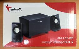 Genius SW-S2.1 200 2.1CH Speaker System 6 Watts with Subwoof
