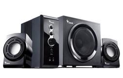 Genius SW-V2.1 1250 4-piece 36 watt gaming speaker system wi