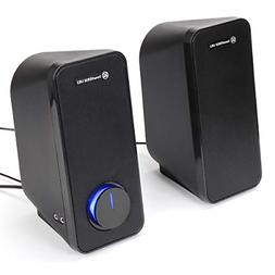 GOgroove UB2 Desktop Computer Speakers for Laptop and PC - U