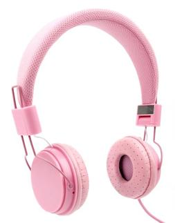 Ultra-Stylish Kids Headphones with Microphone in Pink - Comp