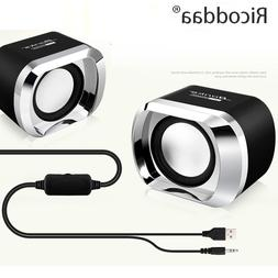 USB 2.0 Notebook <font><b>Speakers</b></font> Wired Stereo M