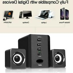 USB Computer Desktop Speakers Stereo 3D Surround Audio Bass