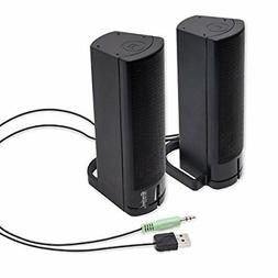 usb computer speakers pc desktop laptop stereo
