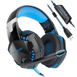 USB Gaming Headset, TeckNet Wired 7.1 Channel Surround Sound
