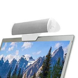 USB Laptop Speaker Clip-On Soundbar by GOgroove - SonaVERSE
