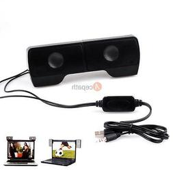USB 3.5MM Multimedia Monitor Speakers Sound Clip-on Laptop D