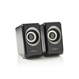 usb powered mini pc speakers 18w travel