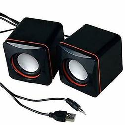 USB Powered PC Mini Speakers Set Computer Laptop Desktop Mac