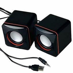 USB Powered PC Mini Speakers Set Computer Laptop Desktop Mac