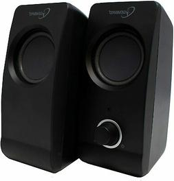 USB POWERED STEREO COMPUTER PC DESKTOP SPEAKER SET 2.0 | Gem