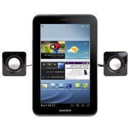 DURAGADGET Small USB Tablet Speakers For Samsung Galaxy Tab