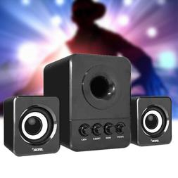 USB Wired 2.1 Mini Computer Speakers Subwoofer 3.5mm Jack fo