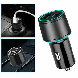 Quick USB Car Charger w/PD Port + Type C Charging Cable Cord