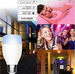 WiFi Smart LED Light Bulb Multi-Color E26 E27 For Amazon Ale
