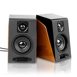 Wired Computer Speakers, Wired Stereo Desktop Bookshelf Lapt