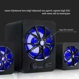 Wired USB Computer Speakers Stereo Super Bass Sound Colorful