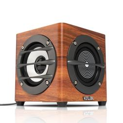 JELICH Wood USB Computer Speaker – Wired USB Powered Multi