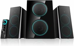 ineo Wooden 2.1 Gaming/PC Speakers with Subwoofers and Contr