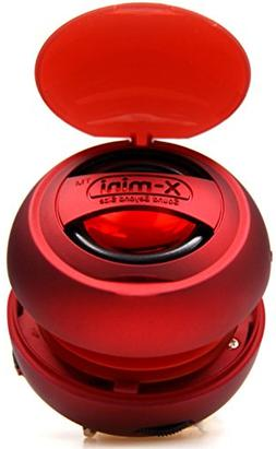 X-Mini XAM8-R Portable Capsule Speaker v1.1, Mono, Red
